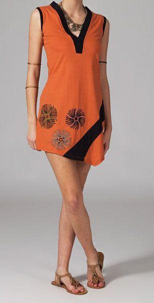 Robe de plage orange Jade 269119