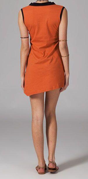 Robe de plage orange Jade