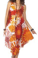 Robe de plage pas chère dans les tons orange Cymilia 317012