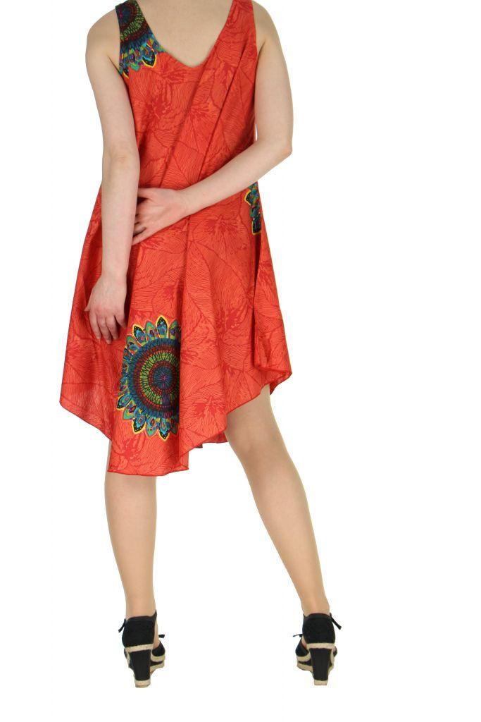 Robe de plage rouge colorée Gemma 267596