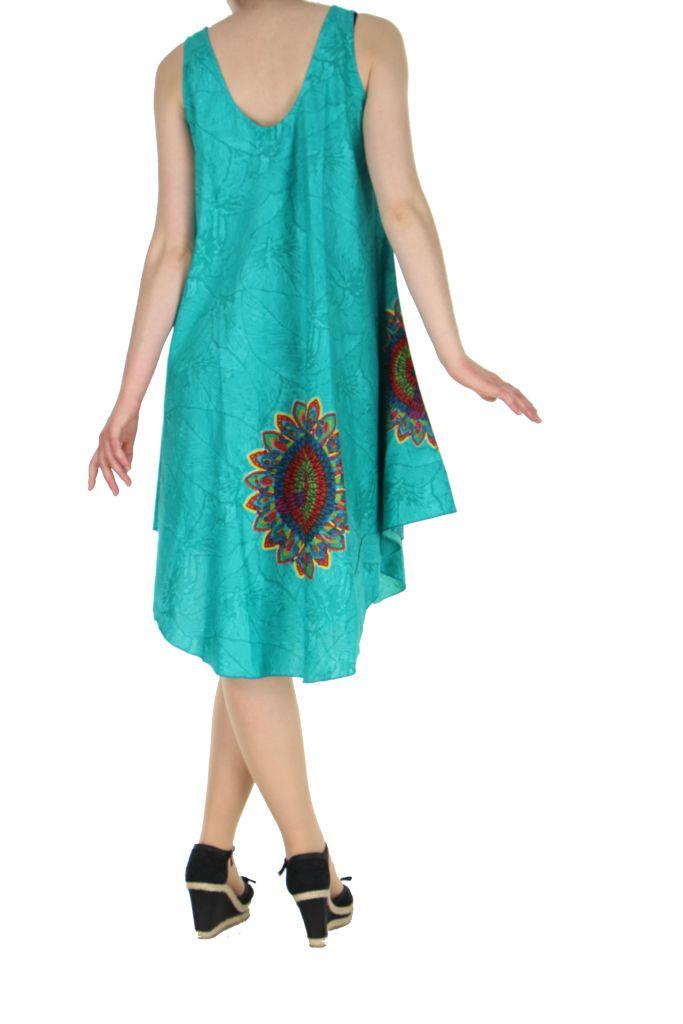 Robe de plage turquoise colorée Gemma 267592