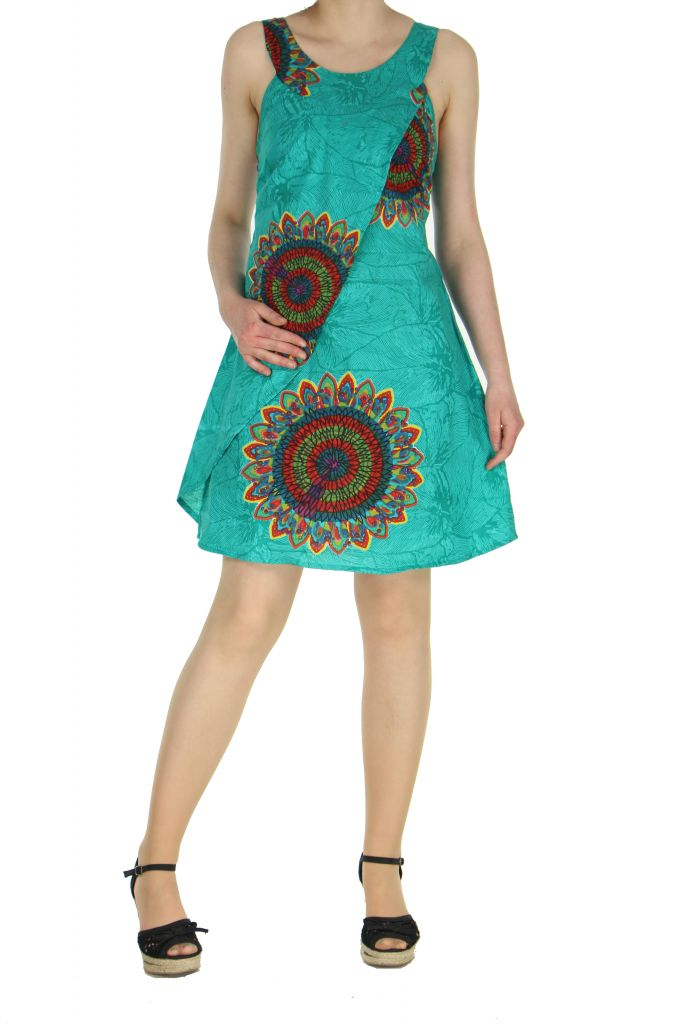 Robe de plage turquoise Ondie 268014