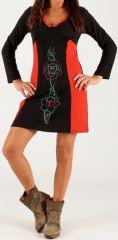 Robe de soirée Noire et Rouge Originale et Féminine Vitaly 279680
