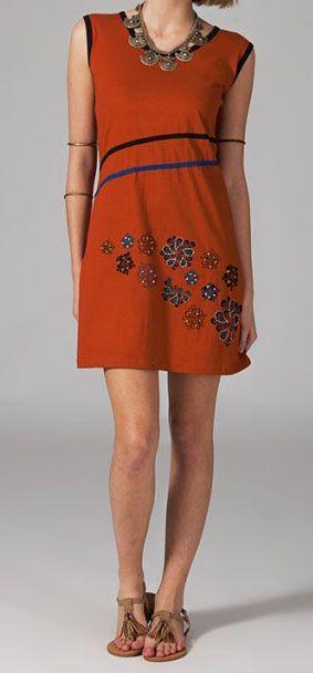 Robe décontractée et originale orange Sadya 269227