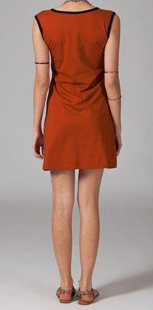 Robe décontractée et originale orange Sadya