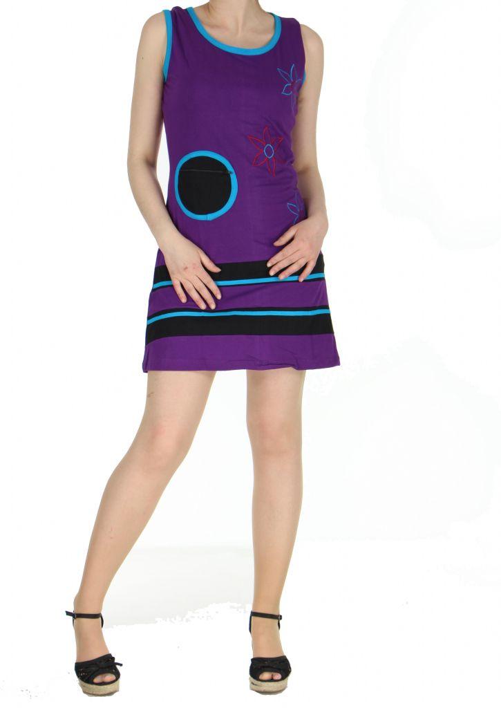 Robe du Népal violette Florina 268326