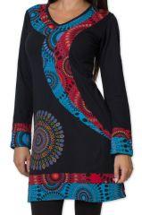 Robe Elégante et Colorée d'hiver à manches longues Urruméa Noire 278847