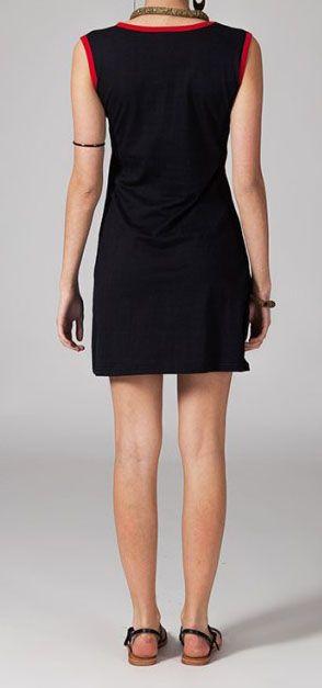 Robe en coton noir Raina 269220
