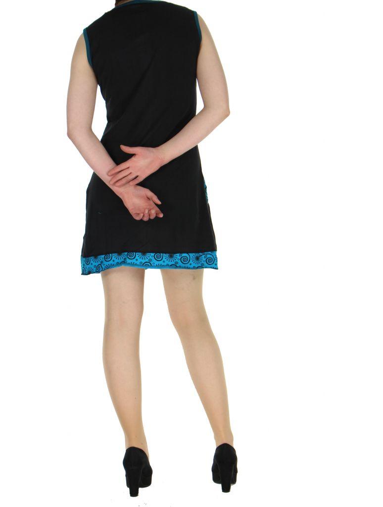 Robe en coton noire Samia 268390