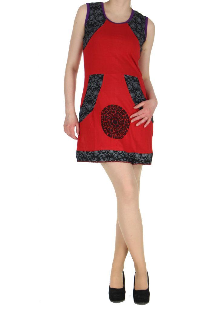 Robe en coton rouge Samia 268387