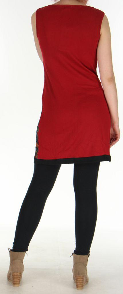 Robe en maille sans manches Originale et Colorée Tatiana Rouge 276406