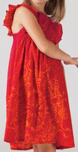 Robe estivale enfant Ethnique et Colorée Abaya Rouge 277322
