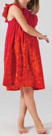 Robe estivale enfant Ethnique et Colorée Abaya Rouge 277323