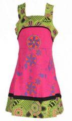 Robe ethnique à fleur pour fille rose Karine 269520