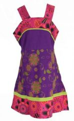 Robe ethnique � fleur pour fille violette Karine 269527
