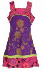 Robe ethnique à fleur pour fille violette Karine 269529