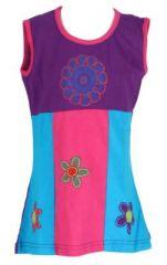Robe ethnique bébé et enfant violette Flower 270979