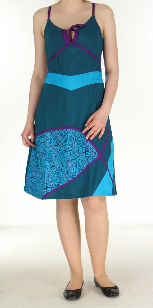 Robe ethnique bleue Lola 270087