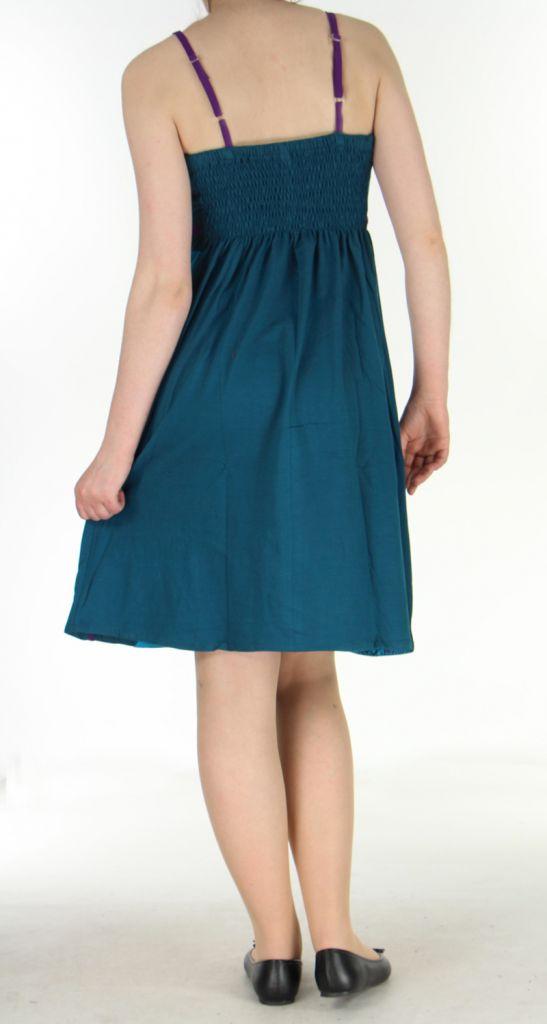 Robe ethnique bleue Lola 270088