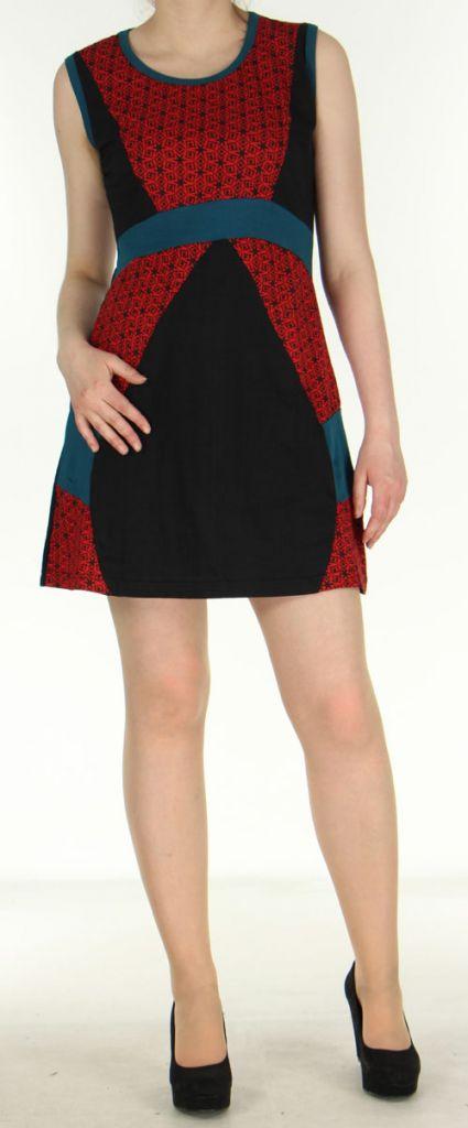 Robe ethnique-chic d'été pas chère noire Amandine 270560