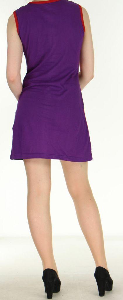Robe ethnique-chic d'été pas chère violette Amandine 270563