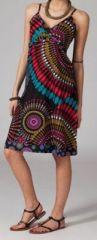 Robe ethnique chic noire Elsa 269675