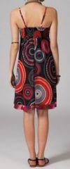 Robe ethnique chic noire et rouge Elsa 269672