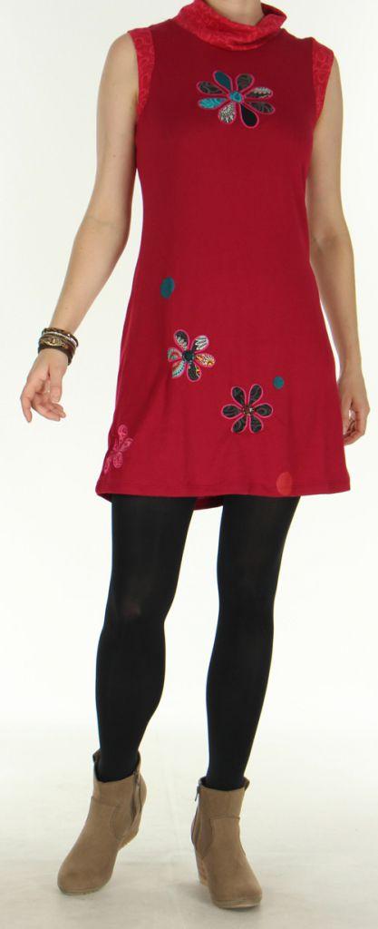 Robe Ethnique et Colorée d'hiver sans manches Naoline Fushia 275931