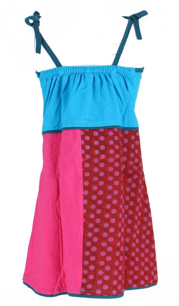 Robe ethnique et colorée enfant bleue Hippie 270988