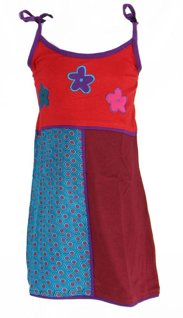 Robe ethnique et colorée enfant rouge Hippie 270991