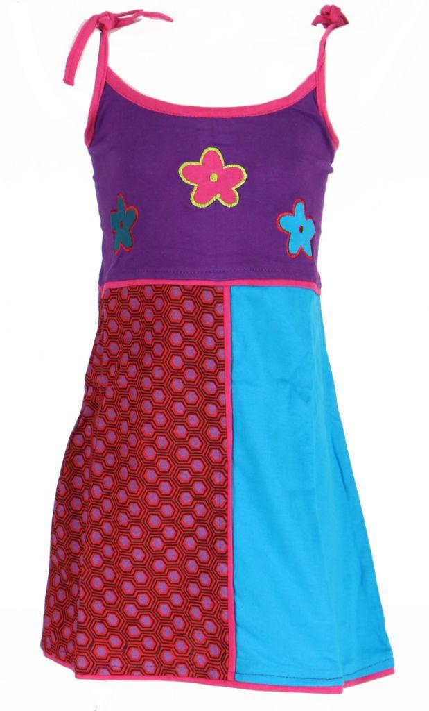 Robe ethnique et colorée enfant violette Hippie 270983