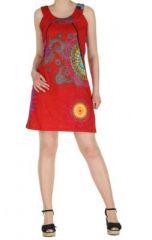 Robe ethnique et colorée rouge Fatika 269712