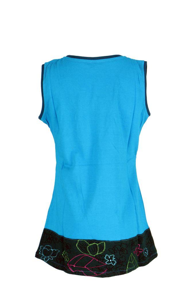 Robe ethnique fille bleue Ofelia 268593