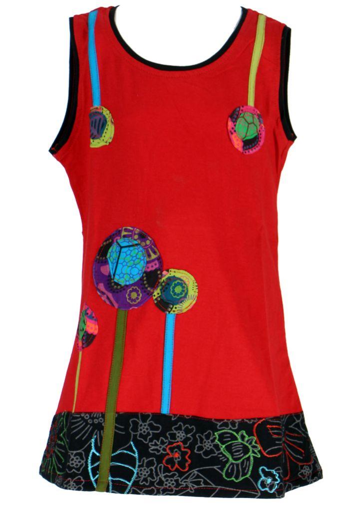 Robe ethnique fille rouge Ofelia 268590