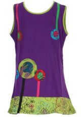 Robe ethnique fille violette Ofelia 268594