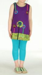 Robe ethnique fille violette Ofelia 270797