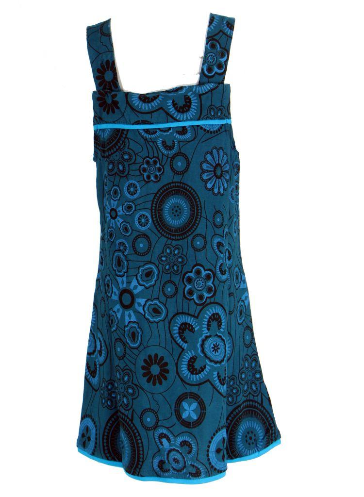 Robe ethnique imprimée bleue pour fille Lucia 268602