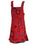 Robe ethnique imprimée rouge pour fille Lucia 268597