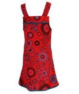 Robe ethnique imprimée rouge pour fille Lucia 268598