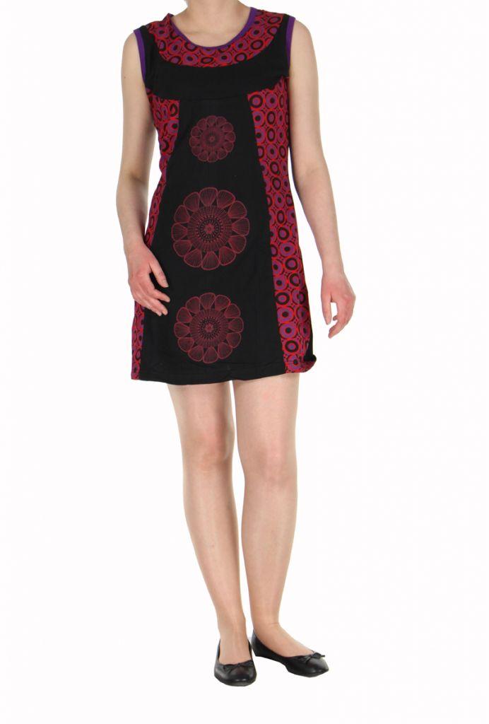 Robe ethnique noire rosace Léonie 270034