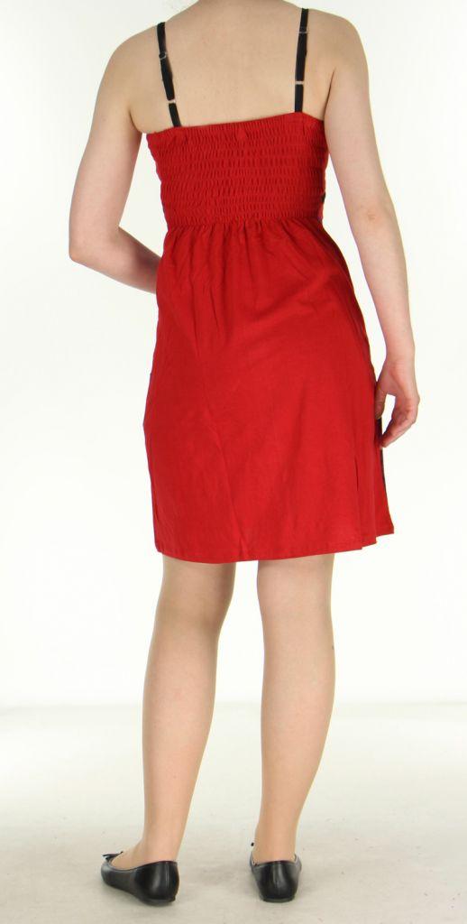 Robe ethnique rouge Lola 270084