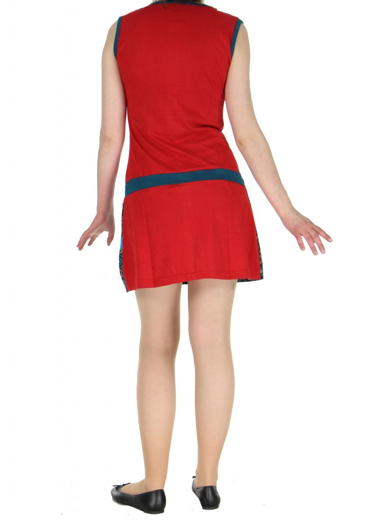Robe ethnique rouge Mathilde 268382