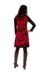 Robe ethnique très originale à effet superposé Gwenola 312660