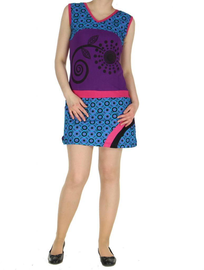 Robe ethnique violette Mathilde 268377