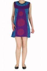 Robe ethnique violette rosace Léonie 270038