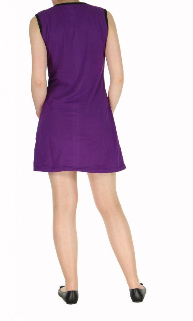 Robe ethnique violette rosace Léonie 270039