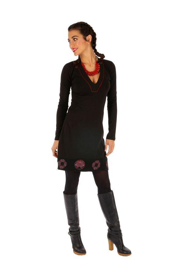 Robe femme chic courte automne hiver pas cher Monia 313275