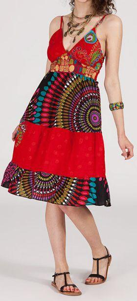 Robe femme d'été - ethnique et originale -  Rubis 271837