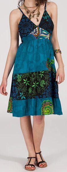 Robe femme d'été - ethnique originale - Lagon 271840