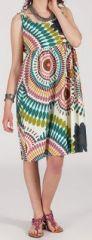 Robe femme d'�t� mi-longue imprim�e ethnique Baba 271848